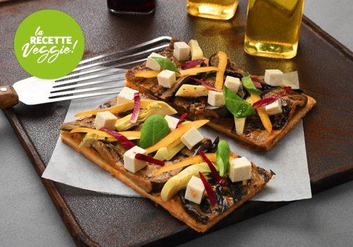 Recette : Tarte fine légumes et tofu - EpiSaveurs