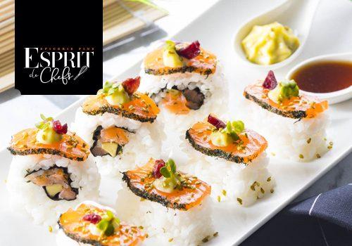 Recette : Sushi au grawlax de saumon au sel Drakkar - EpiSaveurs