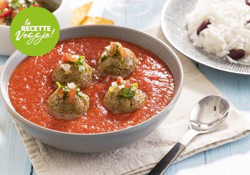 Recette : Boulettes veggie sauce tomate - EpiSaveurs