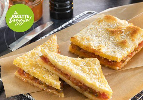 Recette : Croque polenta (sésame et lentilles corail) et compotée de légumes au tofu - EpiSaveurs