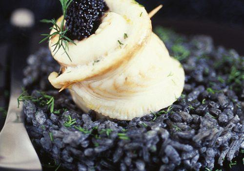 Recette : Riz noir vénéré et filet de sole au caviar sévruga - EpiSaveurs