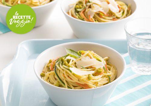 Recette : Spaghetti aux petits légumes - EpiSaveurs