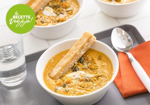 Recette : Soupe de lentilles corail à l'indienne et fingers de riz - EpiSaveurs