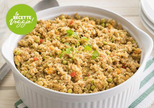 Recette : Pilaf de quinoa, patate douce et petits pois - EpiSaveurs