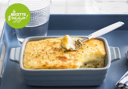 Recette : Tofu soyeux façon brandade parmentière gratinée, curry et coco - EpiSaveurs