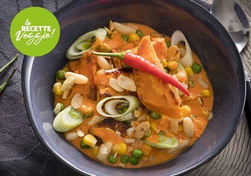 Recette : Carry d'haricots maïs et butternut - EpiSaveurs