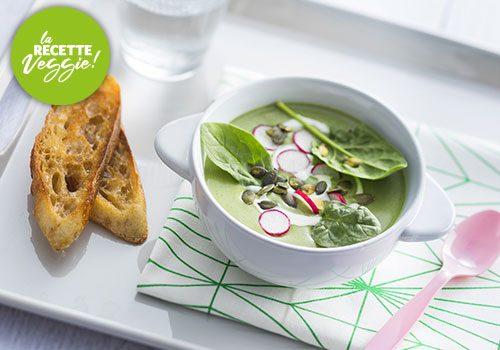 Recette : Velouté froid d'épinard au tofu soyeux - EpiSaveurs